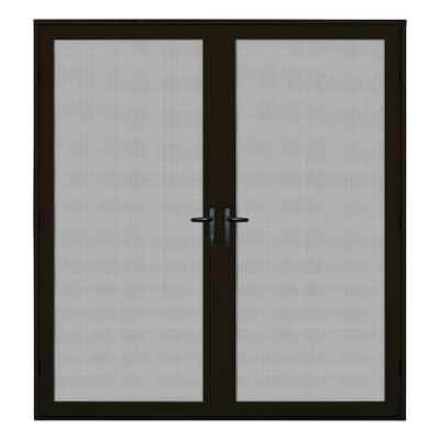 72 in. x 80 in. Bronze Surface Mount Ultimate Security Screen Door with Meshtec Screen