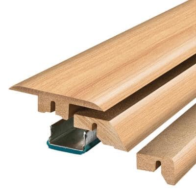 Northern Blonde Maple .75 in. Thick x 2.37 in. Wide x 78.75 in. Length Laminate 4-in-1 Molding