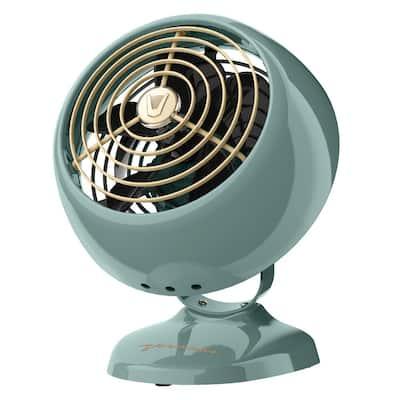VFAN Mini Classic Personal Vintage Air Circulator Fan, Green