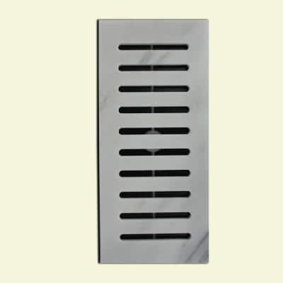Made2Match Greecian White Honed Marble 5 in. x 11 in. Floor Vent Register Tile Edging Trim