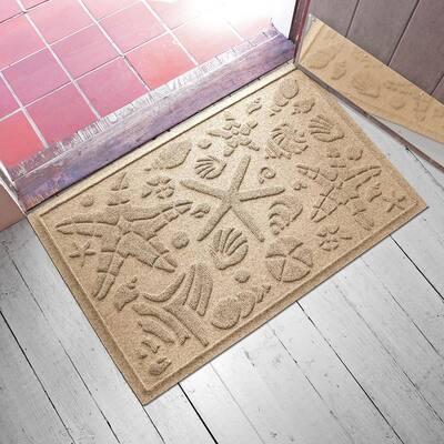 Beachcomber 23 in. x 35 in. PET Polyester Doormat Camel