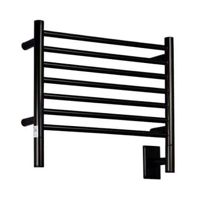 Jeeves H-Straight 7-Bar Hardwired Electric Towel Warmer in Oil Rubbed Bronze