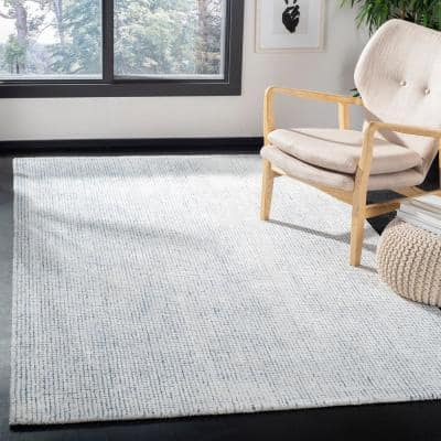 Abstract Ivory/Blue 6 ft. x 9 ft. Geometric Gradient Area Rug