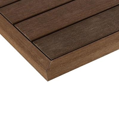 1/6 ft. x 1 ft. Quick Deck Composite Deck Tile Outside Corner Trim in Brazilian Ipe (2-Pieces/Box)
