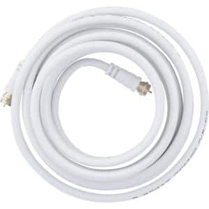 12 ft. RG6 Coaxial Cable, White