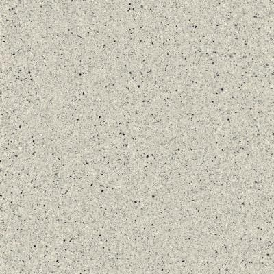 4 in. x 4 in. Solid Surface Vanity Top Sample in Silver Ash