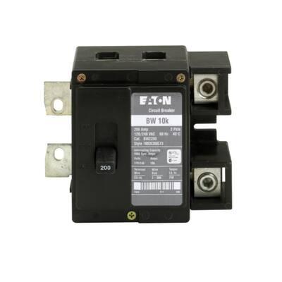 BW 200 Amp Double-Pole 10k Main Circuit Breaker