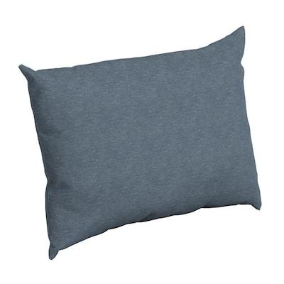 Denim Alair Texture Rectangle Outdoor Throw Pillow