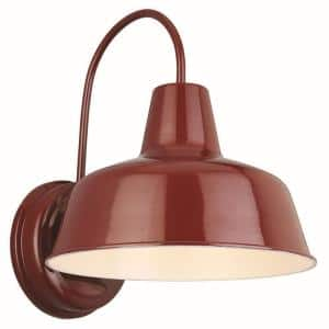 Mason 1-Light Rustic Red Outdoor Wall Light Sconce