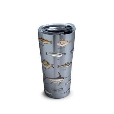 Saltwater Fish 20 oz. Stainless Steel Tumbler with Lid