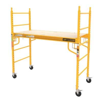 Jobsite Series 6 ft. x 6.23 ft. x 2.5 ft. Baker Scaffold, 1000 lbs. Load Capacity