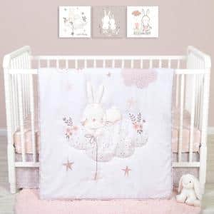Cottontail Cloud 4-Piece Crib Bedding Set