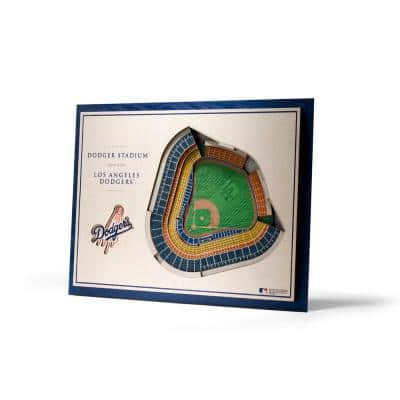 MLB Los Angeles Dodgers 5-Layer Stadiumviews 3D Wooden Wall Art