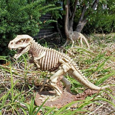 14.5 in. H Bad to the Bone Jurassic T Rex Raptor Dinosaur Statue