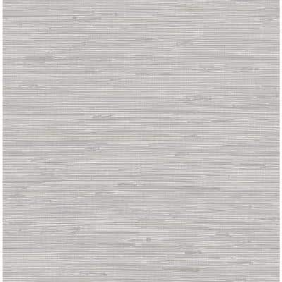 Tibetan Grasscloth Silver Silver Wallpaper Sample