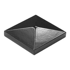2 in. x 2 in. Black Aluminum Pyramid Post Top