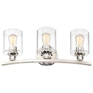 Studio 5 Collection 3-Light Polished Nickel Bath Light