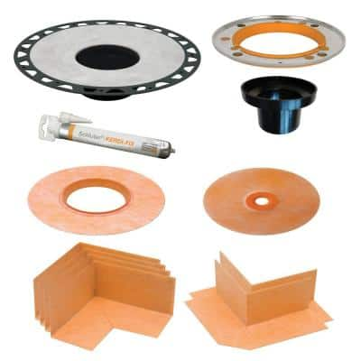 Kerdi-Drain 5-1/4 in. ABS Adaptor Kit