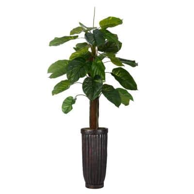 69 in. Real Touch Greenery in Fiberstone Planter