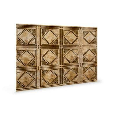 18.5'' x 24.3'' Artnouvo Decorative 3D PVC Backsplash Panels in Bronze 9-Pieces