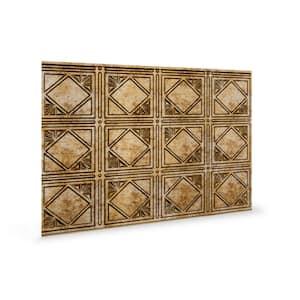 18.5'' x 24.3'' Artnouvo Decorative 3D PVC Backsplash Panels in Bronze 12-Pieces