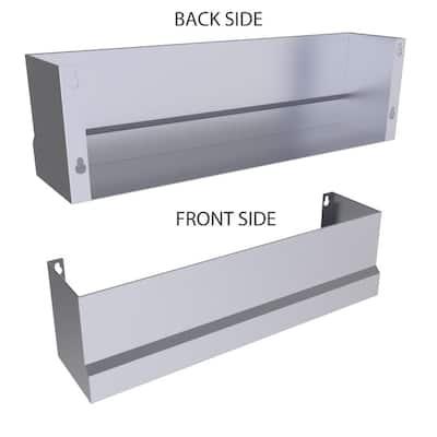 Designer 22.5 in. W x 4.5 in. D x 5 in. H 304 Stainless Steel Heavy-Duty Speed Rail Pocket Shelf Panel