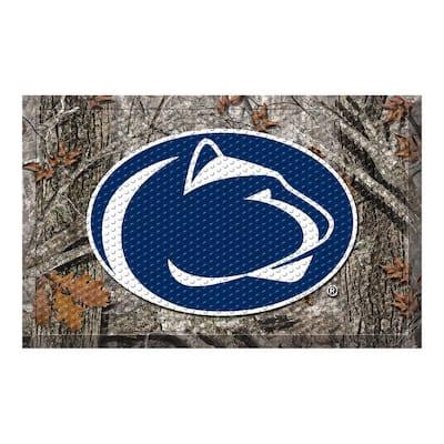 Penn State Camo Heavy Duty Rubber Outdoor Scraprer Door Mat