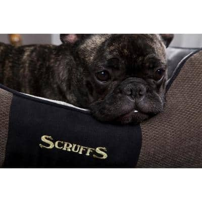 Chester Large Graphite Grey Polyester Box Dog Bed