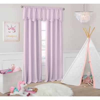 Lavender Faux Silk Rod Pocket Blackout Curtain - 52 in. W x 84 in. L