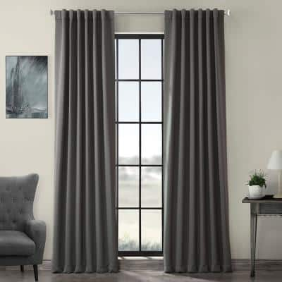 Anthracite Grey Rod Pocket Blackout Curtain - 50 in. W x 84 in. L
