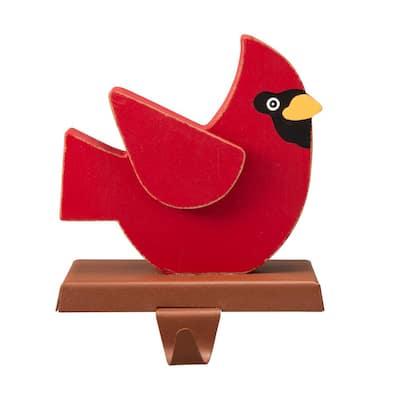 6.3 in. L Wooden/Metal Cardinal Stocking Holder