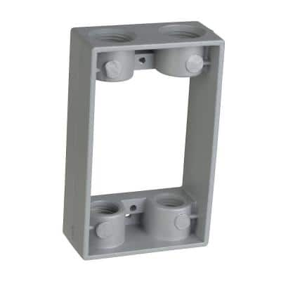1-Gang Weatherproof Junction Box Extension with 4 1/2 in. Holes (Case of 6)