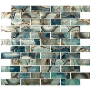 Night Sky Subway 11.81 in. x 11.81 in. x 8 mm Textured Glass Mesh-Mounted Mosaic Tile (9.7 sq. ft./Case)