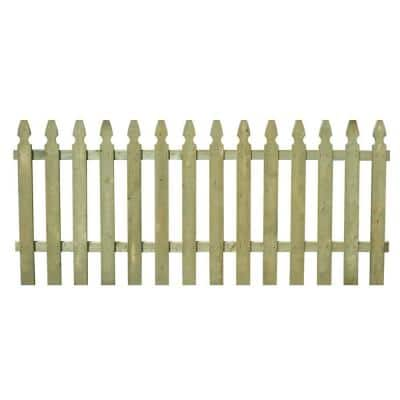 3-1/2 ft. x 8 ft. Pressure-Treated Pine Spaced French Gothic Fence Panel