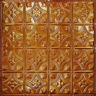 Pattern #3 in Rustic Copper Translucent 2 ft. x 2 ft. Nail Up Tin Ceiling Tile (20 sq. ft./Case)