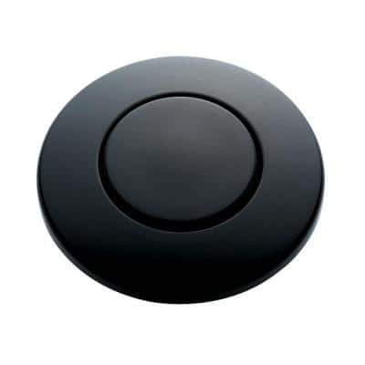 SinkTop Switch Push Button in Matte Black for InSinkErator Garbage Disposals
