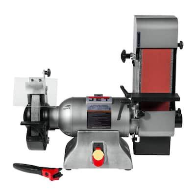 Combination 8 in. Industrial Grinder and 4 in. x 36 in. Belt Sander 1 HP 115-Volt, IBGB-436
