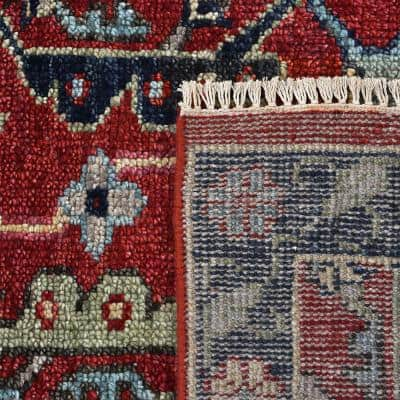 Armin Traditional Serapi Red 9 ft. x 12 ft. Floral Handmade Area Rug
