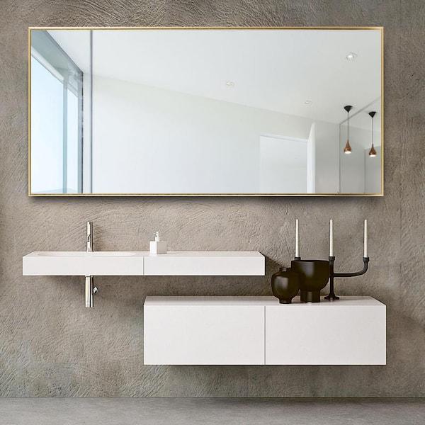 Neu Type 71 In X 34 In Modern Oversized Modern Rectangle Bathroom Wall Mounted Vanity Mirror Aa01037zze001n 3b The Home Depot