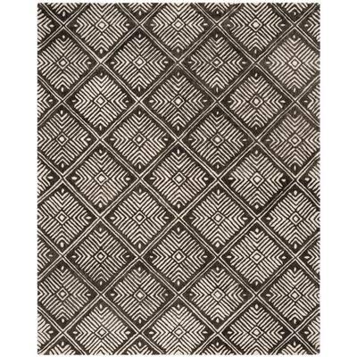 Cambridge Ivory/Charcoal 8 ft. x 10 ft. Geometric Area Rug