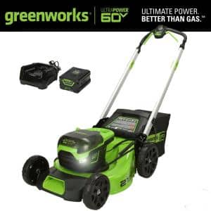 PRO 21 in. 60V Battery Cordless Push Lawn Mower with 5.0 Ah Battery and Charger