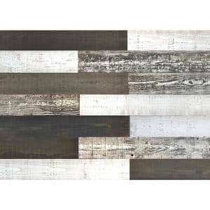 Thermo-treated 1/4 in. x 5 in. x 4 ft. Black and White Barn Wood Wall Planks (10 Sq. Ft. per 6 Pack)