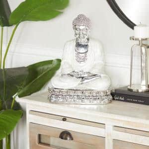 Silver Polystone Eclectic Sculpture