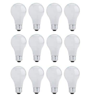 43-Watt A19 Dimmable Soft White Light Halogen Light Bulb (12-Pack)