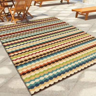 Jumping Jack Ivory 5 ft. x 8 ft. Indoor Area Rug