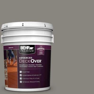 5 gal. #SC-137 Drift Gray Smooth Solid Color Exterior Wood and Concrete Coating