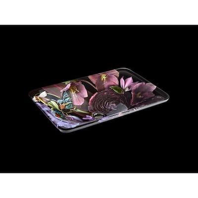 Dutchmaster Rectangular Vessel Sink in Midnight Floral