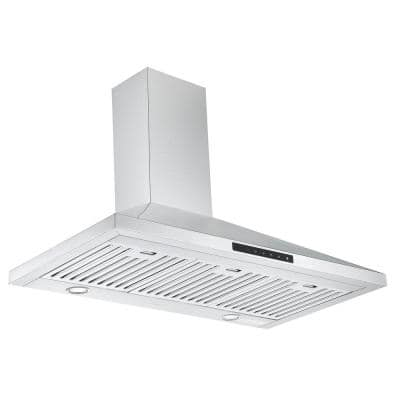 WPNL636 36 in. Convertible Wall Mounted Range Hood in Stainless Steel with Night Light Feature