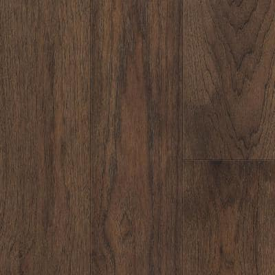 Brown Hickory 6.5 mm T x 6.5 in. W x 48 in. Varied L. Waterproof Engineered Click Hardwood Flooring (21.67 sq. ft./case)