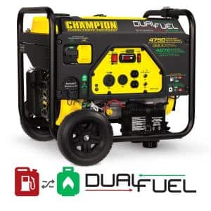 4750/3800-Watt Gas and Propane Dual Fuel Powered Portable Generator